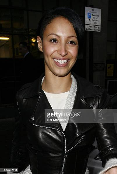 Amelle Berrabah of the Sugababes sighted leaving BBC Radio One studios on February 22 2010 in London England