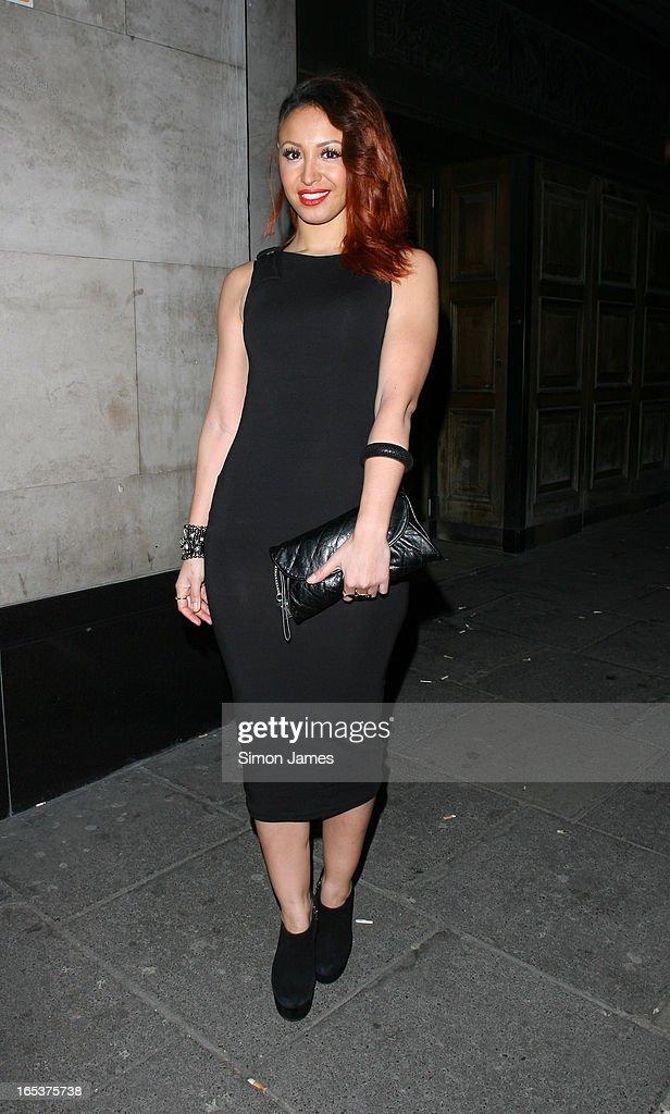 Amelle Berrabah sighting on April 3, 2013 in London, England.