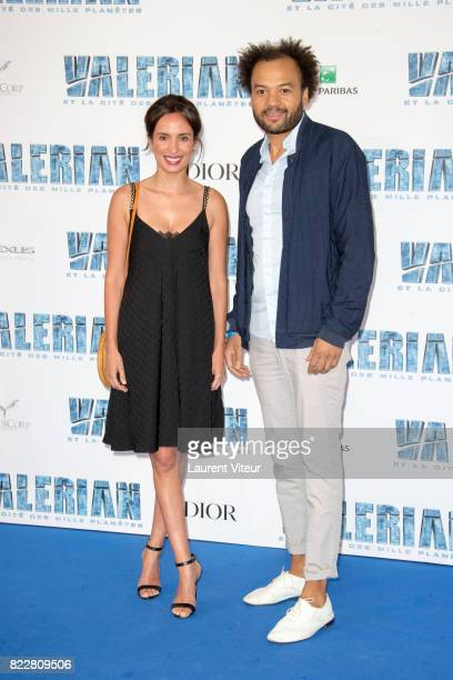 Amelle Chahbi and Fabrice Eboue attend 'Valerian et la Cite desMille Planetes' Paris Premiere at La Cite Du Cinema on July 25 2017 in SaintDenis...