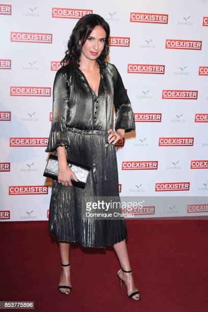 Amelle Chahbi attends the 'Coexister' Paris Premiere at Le Grand Rex on September 25 2017 in Paris France