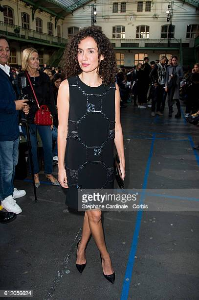 Amelle Chahbi attends the John Galliano show as part of the Paris Fashion Week Womenswear Spring/Summer 2017 on October 2 2016 in Paris France