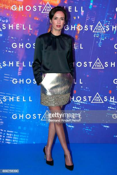 Amelle Chahbi attends the Paris Premiere of the Paramount Pictures release 'Ghost in the Shell' Held at Le Grand Rex on March 21 2017 in Paris France