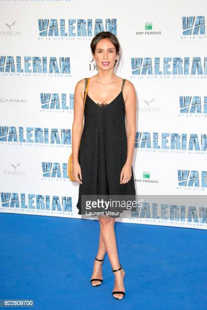 Amelle Chahbi attends 'Valerian et la Cite desMille Planetes' Paris Premiere at La Cite Du Cinema on July 25 2017 in SaintDenis France