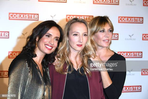 Amelle Chahbi audrey Lamy and Mathilde Seigner attend the 'Coexister' Paris Premiere at Le Grand Rex on September 25 2017 in Paris France