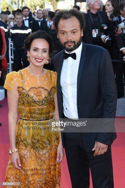 Amelle ChahbiÊand Fabrice EboueÊattend the 'Okja' Screening during the 70th annual Cannes Film Festival at Palais des Festivals on May 19 2017 in...