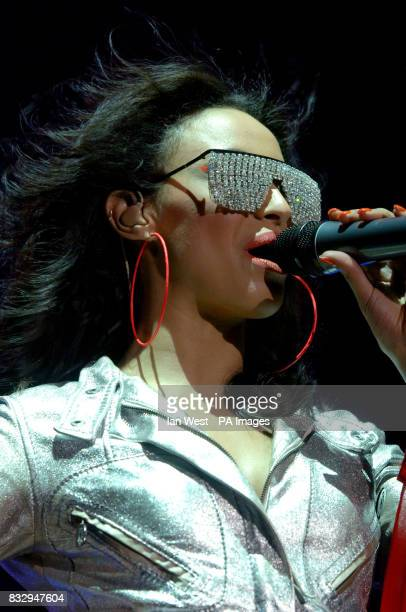 Amelle from The Sugababes in concert at Wembley Arena in north London
