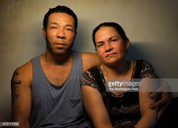 Amerasian husband and wife Nguyen Thahn An and Le Thi My Thuy in their apartment in Thu Dau Mot Townlet Vietnam on March 21 2015 An's mother Sam Thi...