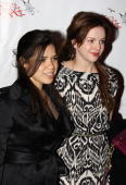 America Ferrara and Amber Tamblyn attend the after party for the Broadway opening of 'God of Carnage' at espace on March 22 2009 in New York City