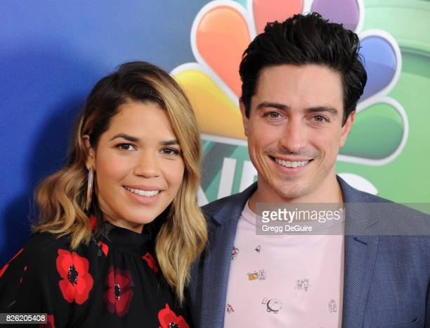 America Ferrera and Ben Feldman arrive at the 2017 Summer TCA Tour NBC Press Tour at The Beverly Hilton Hotel on August 3 2017 in Beverly Hills...