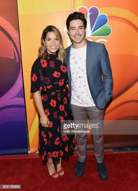 America Ferrera and Ben Feldman at the NBCUniversal Summer TCA Press Tour at The Beverly Hilton Hotel on August 3 2017 in Beverly Hills California