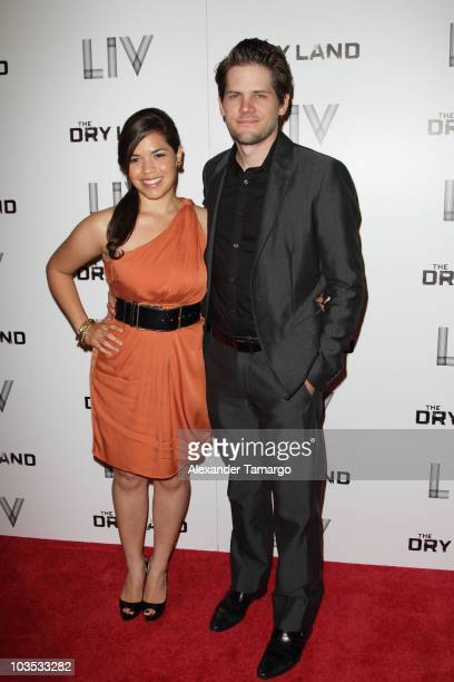 America Ferrera and Ryan Piers Williams attend Miami Premiere Screening of 'The Dry Land' at Colony Theater on August 21 2010 in Miami Beach Florida