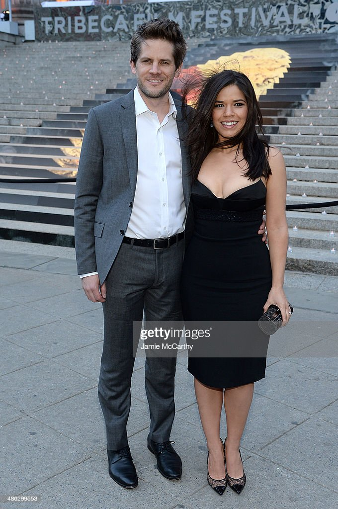 America Ferrera (R) and Ryan Piers Williams attend the Vanity Fair Party during the 2014 Tribeca Film Festival at the State Supreme Courthouse on April 23, 2014 in New York City.