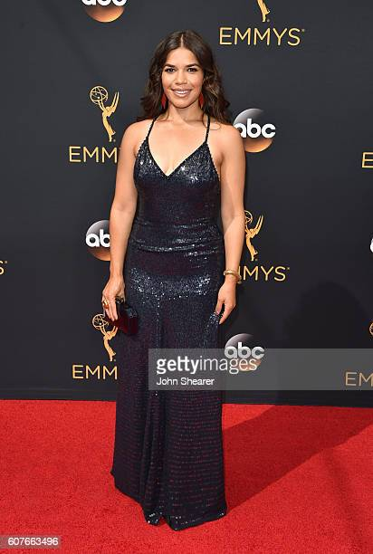 America Ferrera arrives at the 68th Annual Primetime Emmy Awards at Microsoft Theater on September 18 2016 in Los Angeles California