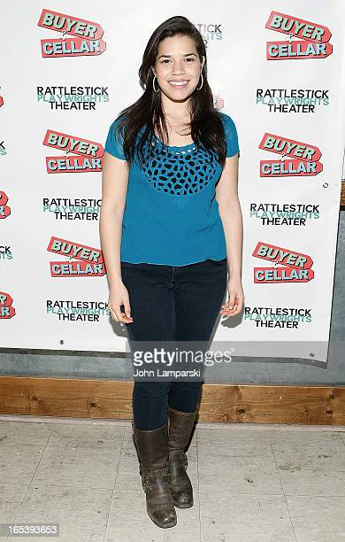 America Ferrera attends 'Buyer And Cellar' Off Broadway Opening Night at Rattlestick Playwrights Theater on April 3 2013 in New York City