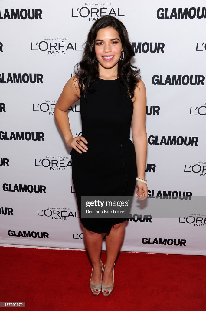 <a gi-track='captionPersonalityLinkClicked' href=/galleries/search?phrase=America+Ferrera&family=editorial&specificpeople=216393 ng-click='$event.stopPropagation()'>America Ferrera</a> attends Glamour's 23rd annual Women of the Year awards on November 11, 2013 in New York City.
