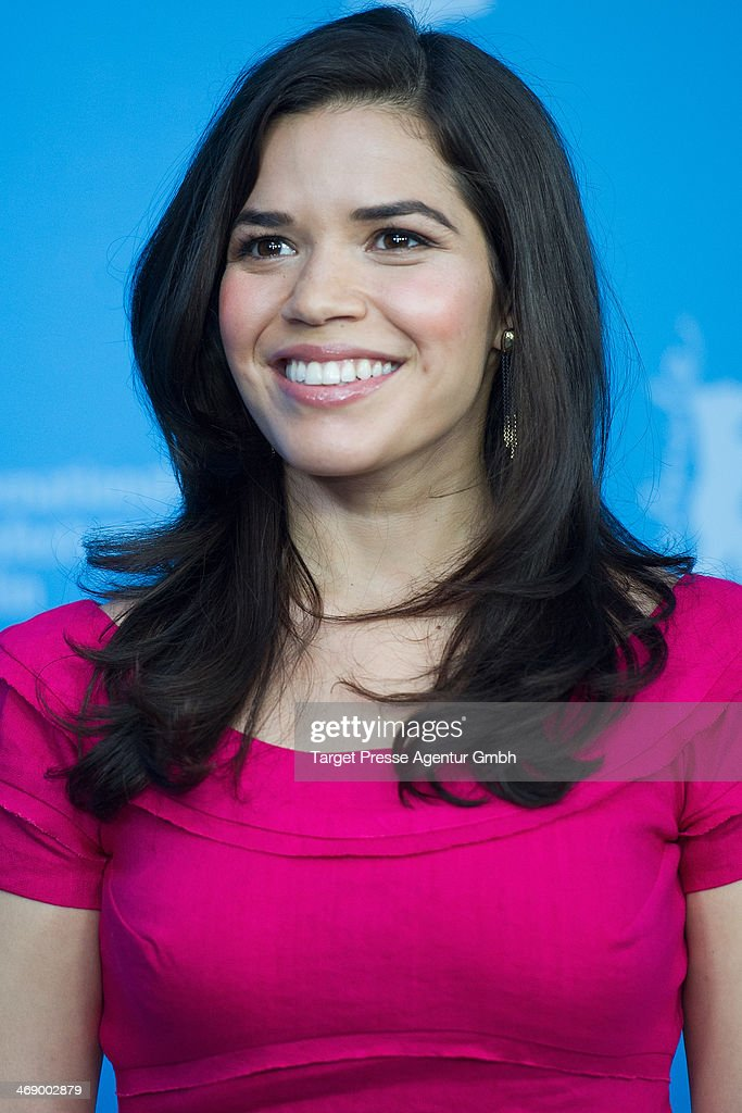 <a gi-track='captionPersonalityLinkClicked' href=/galleries/search?phrase=America+Ferrera&family=editorial&specificpeople=216393 ng-click='$event.stopPropagation()'>America Ferrera</a> attends the 'Cesar Chavez' photocall during 64th Berlinale International Film Festival at Grand Hyatt Hotel on February 12, 2014 in Berlin, Germany.