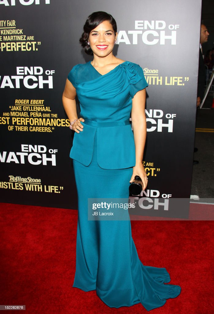 America Ferrera attends the 'End Of Watch' Los Angeles premiere at Regal Cinemas L.A. Live on September 17, 2012 in Los Angeles, California.