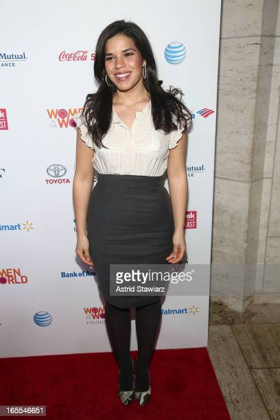 America Ferrera attends Women in the World Summit 2013 on April 4 2013 in New York United States