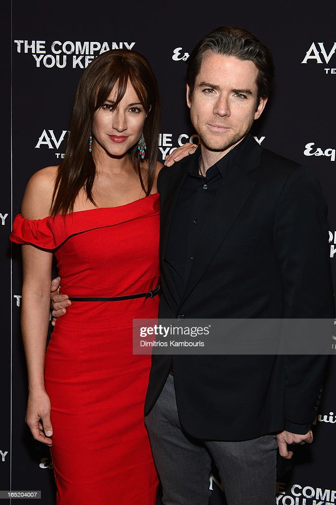 America Olivo and Christian Campbell attend 'The Company You Keep' New York Premiere at MOMA on April 1, 2013 in New York City.