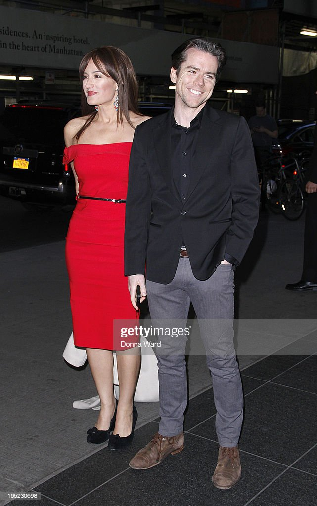 America Olivo and Christian Campbell attend 'The Company You Keep' New York Premiere at The Museum of Modern Art on April 1, 2013 in New York City.