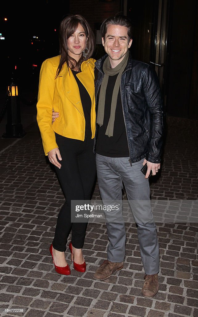 America Olivo, Christian Campbell attend The Cinema Society & Jaeger-LeCoultre screening of Open Road Films' 'The Host' at Tribeca Grand Hotel on March 27, 2013 in New York City.