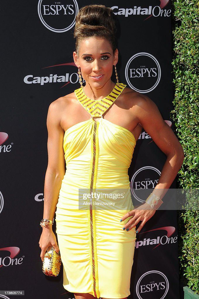 Americal track and field athlete LoLo Jones arrives at the 2013 ESPY Awards at Nokia Theatre L.A. Live on July 17, 2013 in Los Angeles, California.