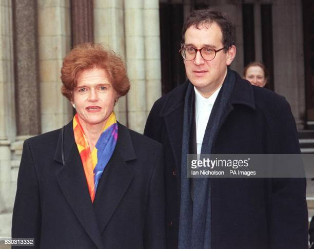 American academic Professor Deborah Lipstadt and instructing solicitor Anthony Julius leave the High Court where she is contesting a libel action...