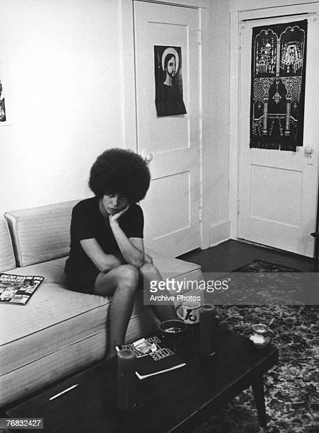 American activist Angela Davis shortly after she was fired from her post as philosophy professor at UCLA due to her membership of the Communist Party...
