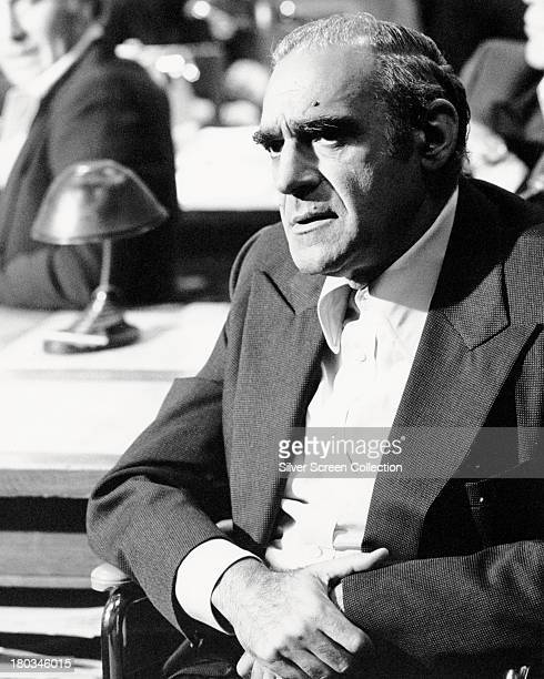 American actor Abe Vigoda as Sal Tessio in 'The Godfather' directed by Francis Ford Coppola 1972