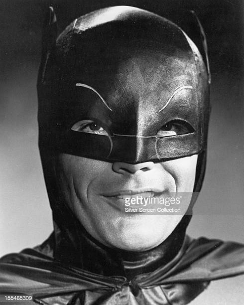 American actor Adam West in the title role of the US TV series 'Batman' circa 1967