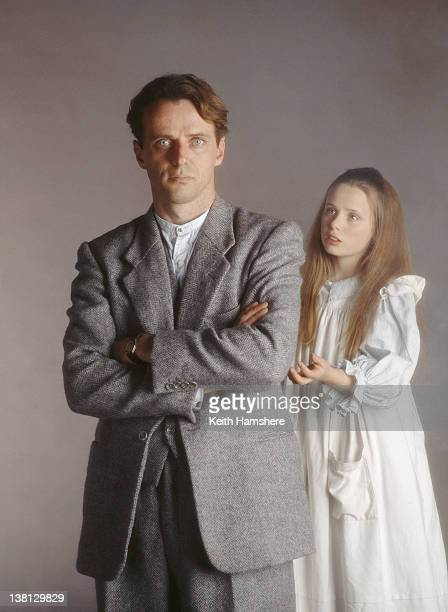 American actor Aidan Quinn with actress Victoria Shalet in a publicity still for the film 'Haunted' 1995
