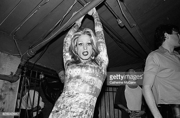 American actor Alexis Arquette poses for a portrait in drag in April 1998 in New York City New York