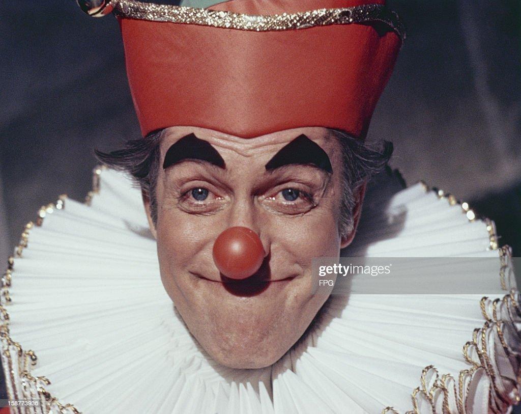 American actor and comedian Dick Van Dyke in a clown costume circa 1970