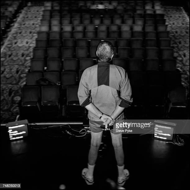 American actor and comedian Jerry Lewis looking at an empty theatre from the stage Las Vegas 14th January 2000