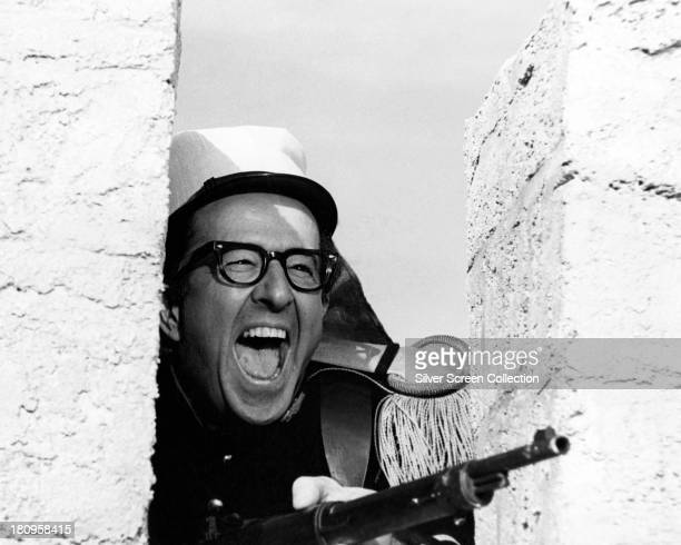 American actor and comedian Phil Silvers as Sergeant Nocker in 'Follow That Camel' directed by Gerald Thomas 1967