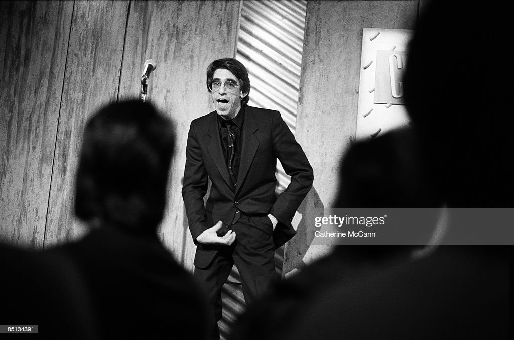 American actor and comedian Richard Belzer performing his stand up comedy routine at Caroline's Comedy Club on May 4 1988 in New York City New York