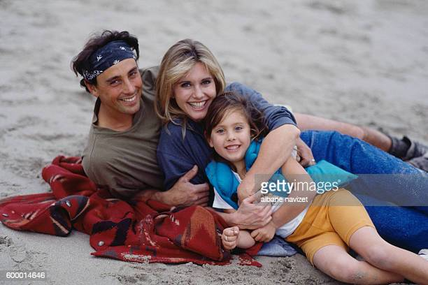 American actor and dancer Matt Lattanzi his wife British actress and singer Olivia NewtonJohn and their daughter Chloe Rose Lattanzi