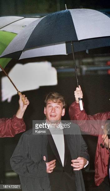 American actor and dancer Patrick Swayze circa 1990