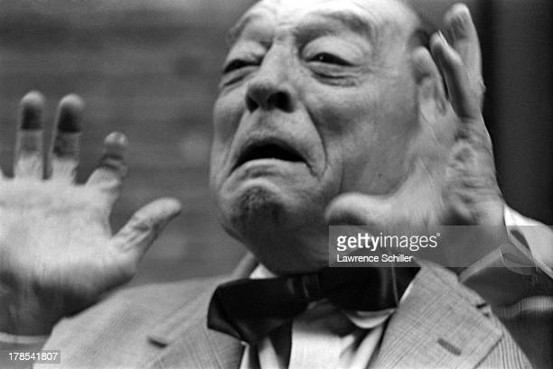 American actor and director Buster Keaton in a scene from an unidentified television program Culver City California 1965