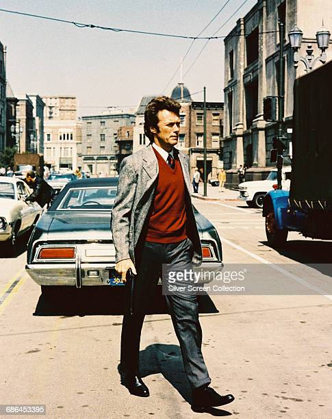American actor and director Clint Eastwood as Inspector Harry Callahan in the action film 'Dirty Harry' 1971