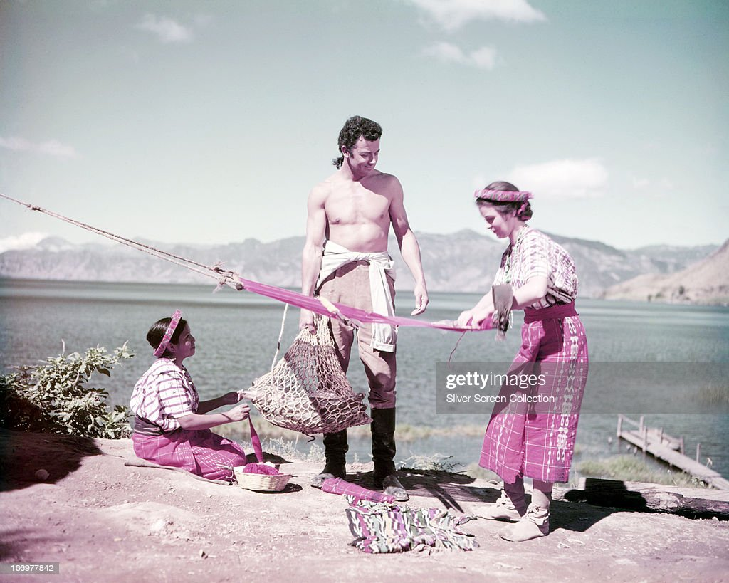 American actor and director <a gi-track='captionPersonalityLinkClicked' href=/galleries/search?phrase=Cornel+Wilde&family=editorial&specificpeople=227460 ng-click='$event.stopPropagation()'>Cornel Wilde</a> (1912 - 1989) as Jean-Paul in a publicity still for 'Treasure of the Golden Condor', directed by Delmer Daves, 1953.