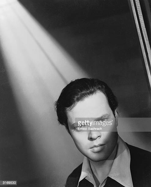 Film star Orson Welles on the set of RKO's 'Citizen Kane' which he directed wrote and starred in
