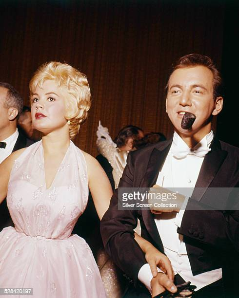 American actor and singer Bobby Darin with his wife actress Sandra Dee at the 33rd Academy Awards Santa Monica California where they presented the...