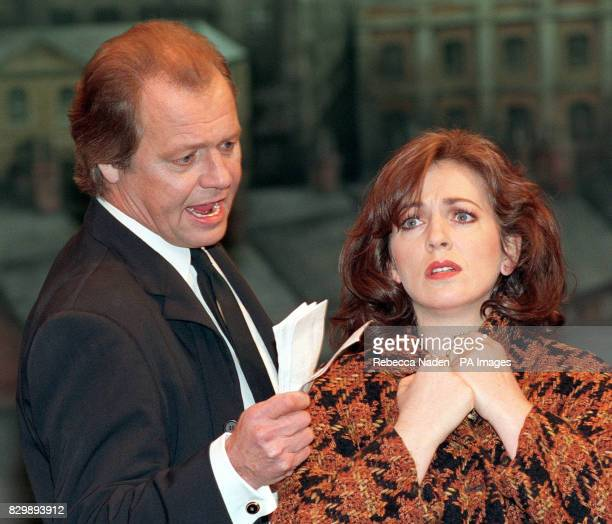 American actor and singer David Soul rehearsing with actress Siobhan McCarthy at London's Phoenix Theatre this afternoon where he is preparing for...