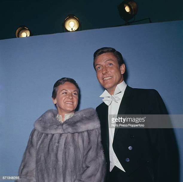 American actor and singer Dick Van Dyke posed with his wife Margie Willett at the 39th Academy Awards show at the Santa Monica Civic Auditorium in...