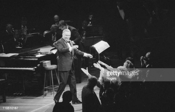 American actor and singer Frank Sinatra in concert 19th September 1984