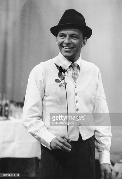 American actor and singer Frank Sinatra on the set of the TV special 'The Judy Garland Show' 1st April 1962