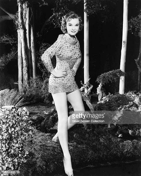 American actor Anne Francis as Altaira Morbius in a publicity still for the science fiction film 'Forbidden Planet' 1956
