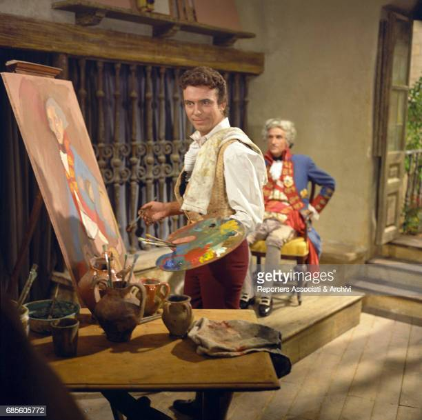 American actor Anthony Franciosa playing the painter Francisco Goya in a scene from the film 'The Naked Maja' 1958 Italy