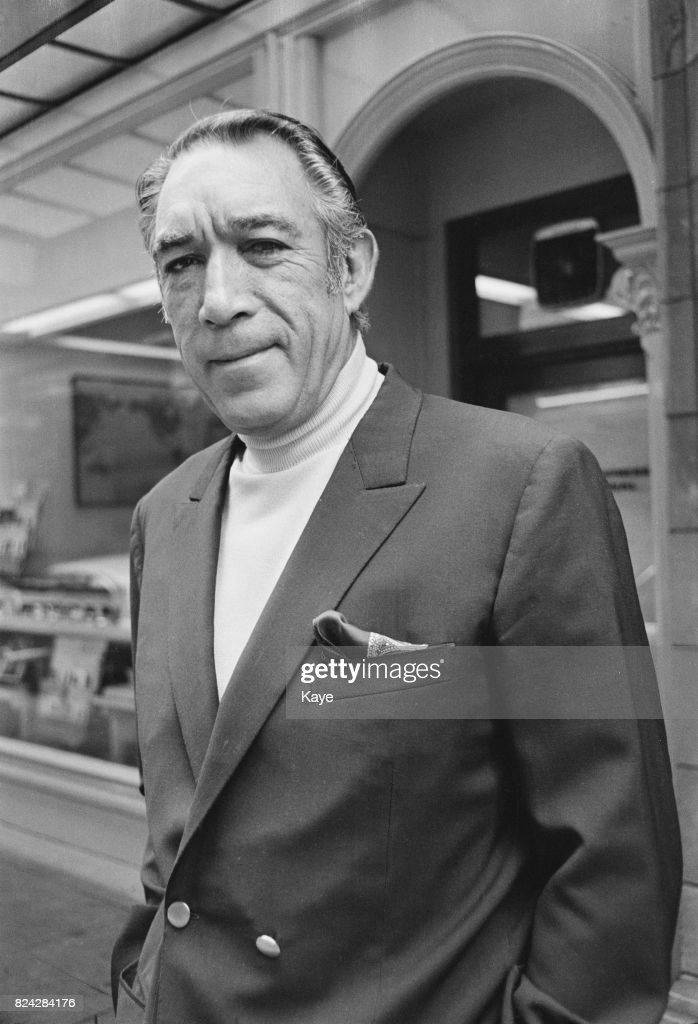 American actor Anthony Quinn, 22nd August 1970.